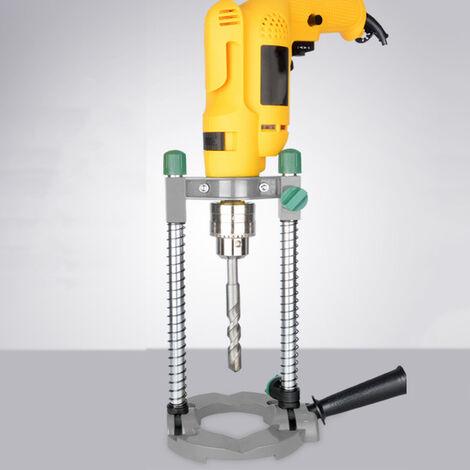 Soporte de taladro electrico simple, soporte de posicionamiento de angulo ajustable