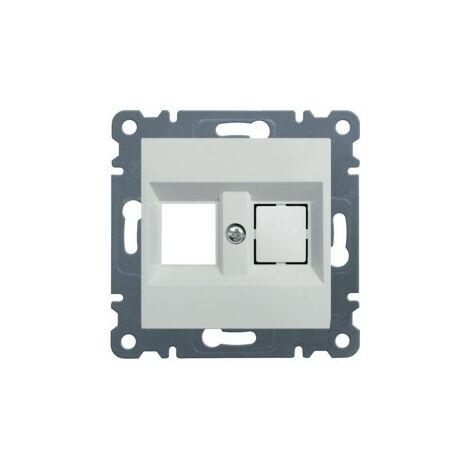 Soporte Doble para conector Keystone Hager Lumina Intense WL2020 color Blanco
