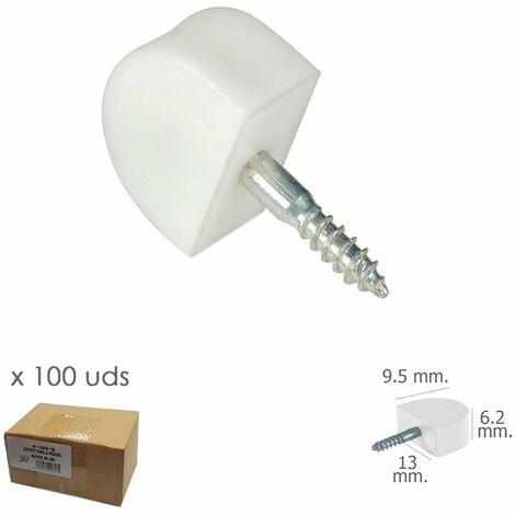 Soporte Estanteria Tornillo Pequeño Blanco (Caja 100 unidades)
