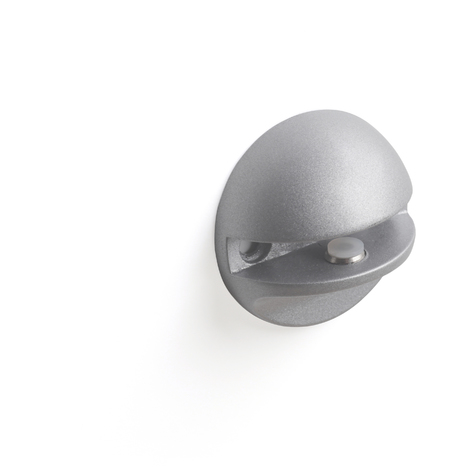 Soporte fijo para baldas de cristal de la serie GLASS S: con estilo funcional, fabricado en zamak y acabado en cromado mate.