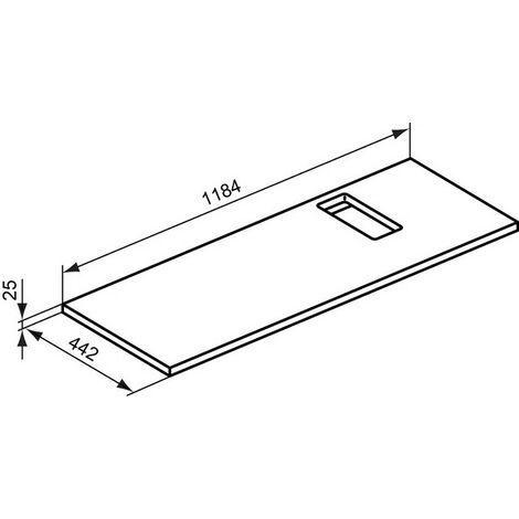 Soporte Ideal Standard STRADA, 800mm, T783867 - T783867