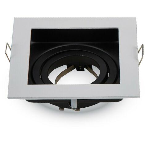 Soporte LED cuadrado blanco
