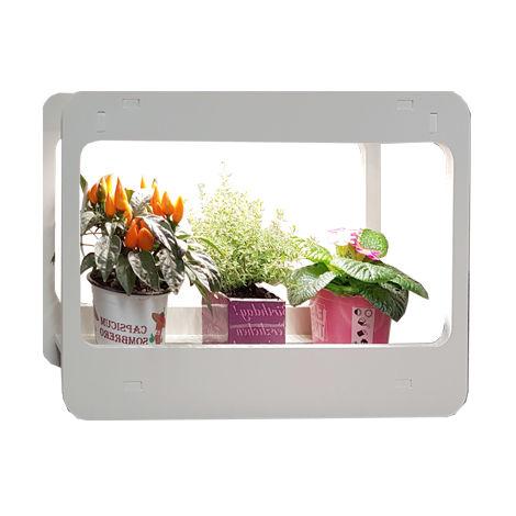 soporte macetas led mini garden para crecimiento plantas 480x138x320mm
