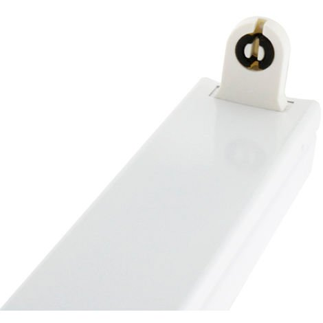 Soporte Maxt para un Tubo LED 1200 mm (Conexión 1 Lateral) Blanco | IluminaShop