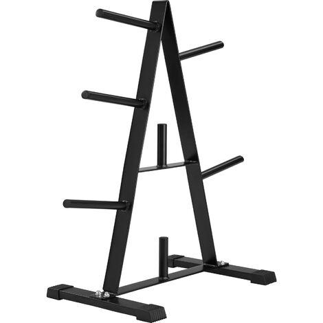 Soporte para discos de pesas - soporte de mancuernas, aparato de gimnasia, aparato para gimnasio - negro