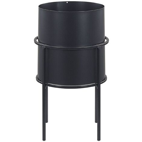 Soporte para maceta negro 16 x 16 x 28 cm MILEA