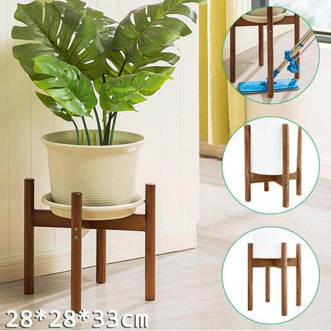 Soporte para macetero de bambú clásico 28x28x33cm