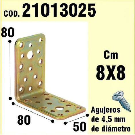 Soporte para madera ángulo 50x80x80 mm.