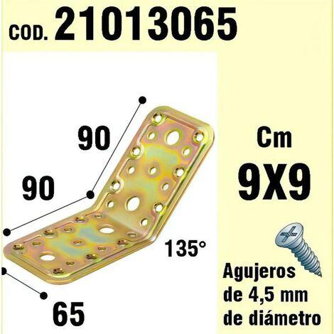 Soporte para madera ángulo 65x90x90 mm. /135°