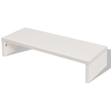 Soporte para pantalla de aglomerado 60x23,5x12 cm blanco