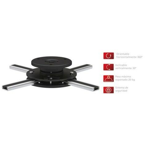 Soporte para Proyector de Techo extraplano Fonestar, orientable e inclinable, peso máximo 20 Kg, color negro