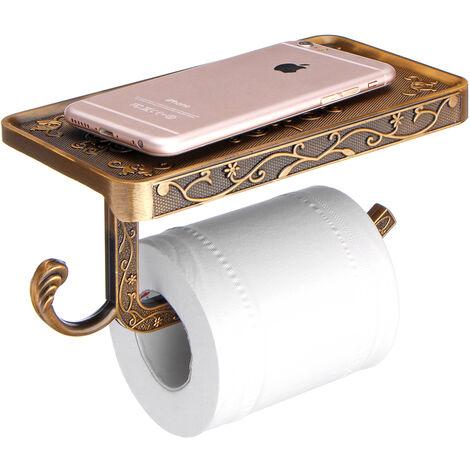 Soporte para teléfono móvil de papel de baño de aleación de zinc tallado Soportes de soporte de papel