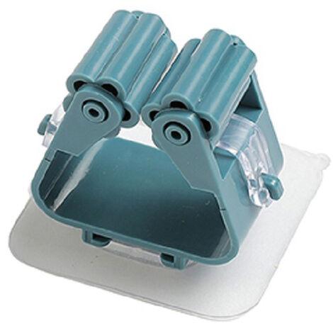 Soporte para trapeador, soporte para escoba, organizador autoadhesivo para colgar escoba montado en la pared