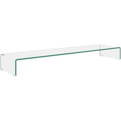 Soporte para TV/Elevador monitor cristal claro 120x30x13 cm