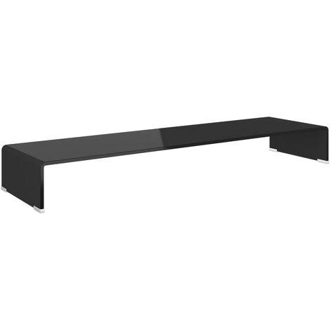 Soporte para TV/Elevador monitor cristal negro 110x30x13 cm