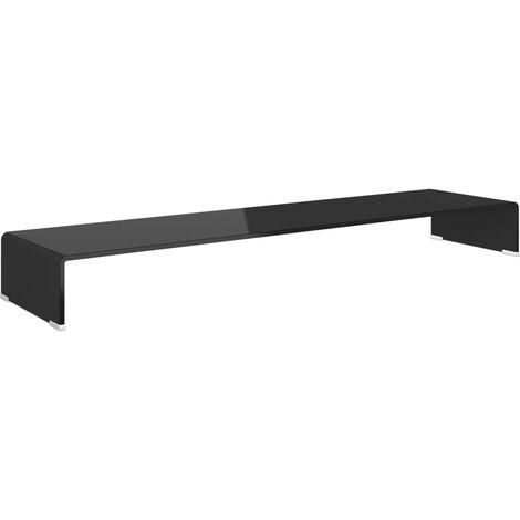 Soporte para TV/Elevador monitor cristal negro 120x30x13 cm