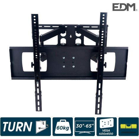 Soporte plasma/lcd/led de 30-60 pulgadas max.55kg articulado, dos brazos y oscilante negro edm