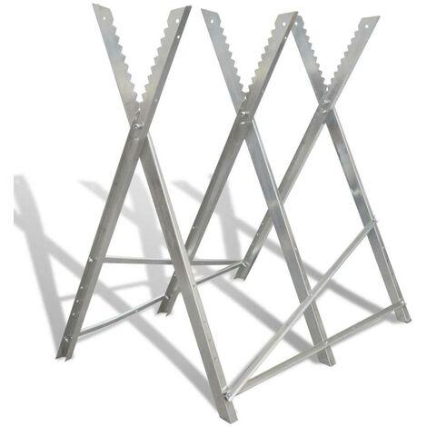 Soporte plegable galvanizado con sierras para carpinter¨ªa