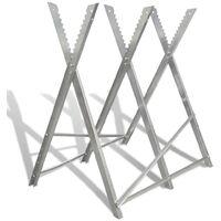 Soporte plegable galvanizado con sierras para carpintería