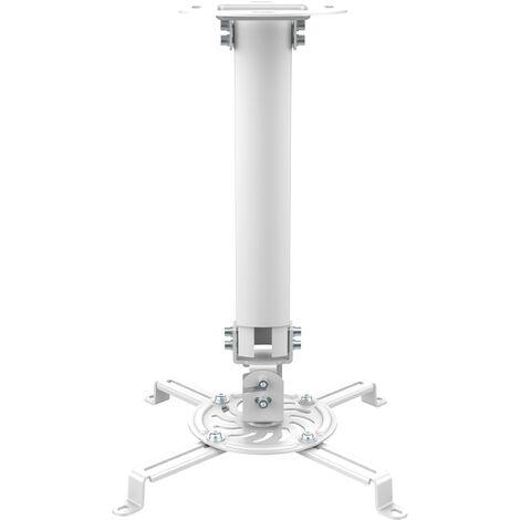 Soporte Proyector Techo De 38 A 58cm BLANCO