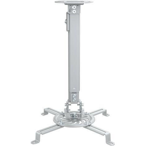 Soporte Proyector Techo De 38 A 58cm PLATA