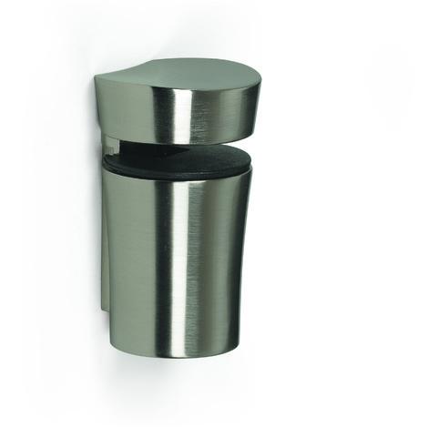 Soporte regulable para baldas de cristal y madera, con estilo funcional, fabricado en y acabado níquel satinado