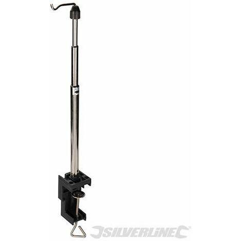 Soporte telescópico con gancho para herramienta rotativa, 550 mm