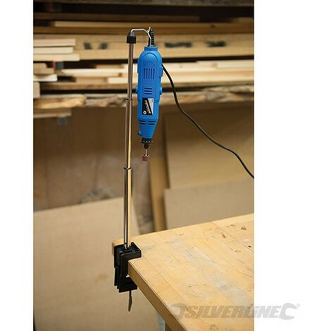 Soporte telescópico con gancho para herramienta rotativa (550 mm)