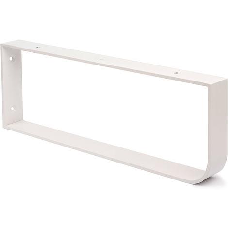 """main image of """"Soporte toallero para encimera de baño con acabado blanco mate. dimensiones: 40x450x150 mm - talla"""""""