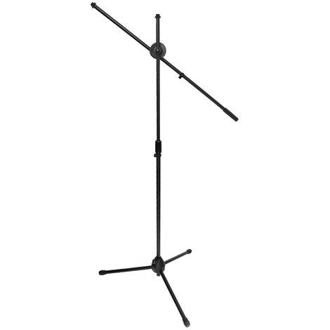 Soporte tripode micrófono ajustable 170 - 240 cm estudio grabacion metal negro