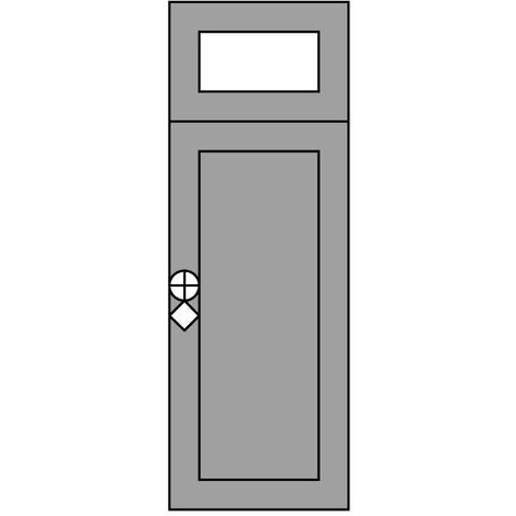 Sopraluce per Porta Blindata da 20cm, 30cm o 40cm
