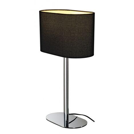 SOPRANA OVAL TL-1, lampe à poser, diffuseur noir, E27, max. 60W - chrome diffuseur noir