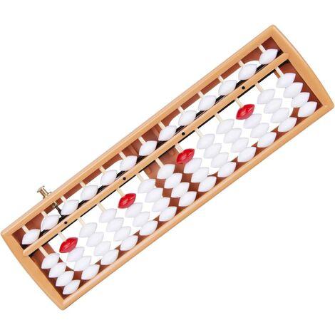 Soroban, boulier en bois avec 13 rangées, calculatrice chinoise/japonaise, outil de comptage avec bouton de réinitialisation, pour lapprentissage des mathématiques à lécole