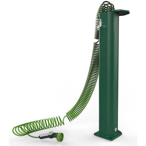 Fuente con tubo espiral verde cm 19x101,5x20 ARKEMA DESIGN - prodotto made in Italy CV-GS145/6016