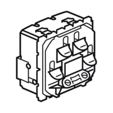 """main image of """"Sortie de cable Céliane bornes automatiques face avant livrées avec serre-câbles"""""""