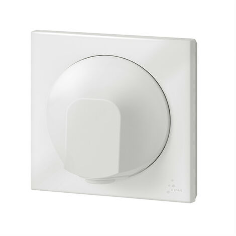 """main image of """"Sortie de câble IP44 dooxie livrée complète finition blanc emballage blister (095019)"""""""