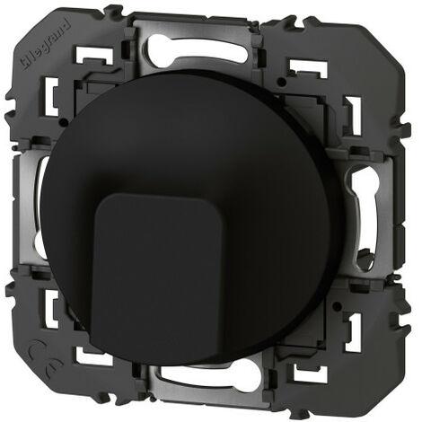 "main image of ""Sortie de câble standard dooxie finition noir emballage blister (095281)"""