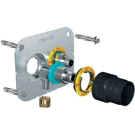 Sortie de cloison double à glissement Robifix+ - Entraxe 50 mm - Tube Ø 16 mm - Femelle - Watts