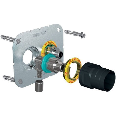 Sortie de cloison double à sertir Robifix+ - Entraxe 50 mm - Tube Ø 16 mm - Femelle - Watts