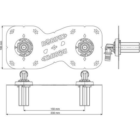 """main image of """"Sortie de cloison Robifix +150 mm - Watts Diamètre (mm) 16 Système de raccordement A glissement"""""""