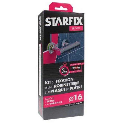"""Sortie de cloison STARFIX PER Ø16 Raccords à Sertir - Femelle 1/2"""" (15/21) pour robinetterie entraxe 150 mm"""