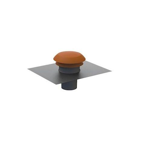 Sortie de toiture CPR 125 R - Diamètre 125mm - Rouge - Atlantic