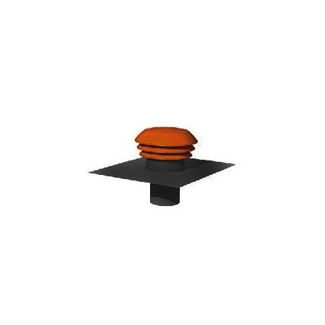 Sortie de toiture CPR 160 R - Diamètre 160mm - Rouge - Atlantic