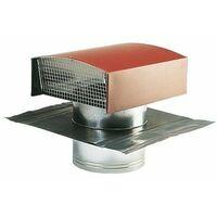 Sortie de toiture vmc 160 mm aldes , en galva pour tuile rouge