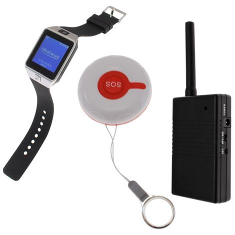 SOS Alert Watch & Pager with Signal Repeater System 7 [009-3045]