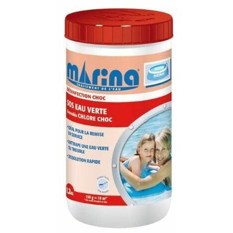 SOS Eau verte Chlore choc granulés Marina - 1,2kg