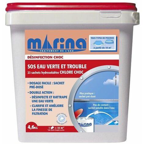 SOS Eau verte et trouble sachet hydrosoluble de 200g Marina - 4,6kg