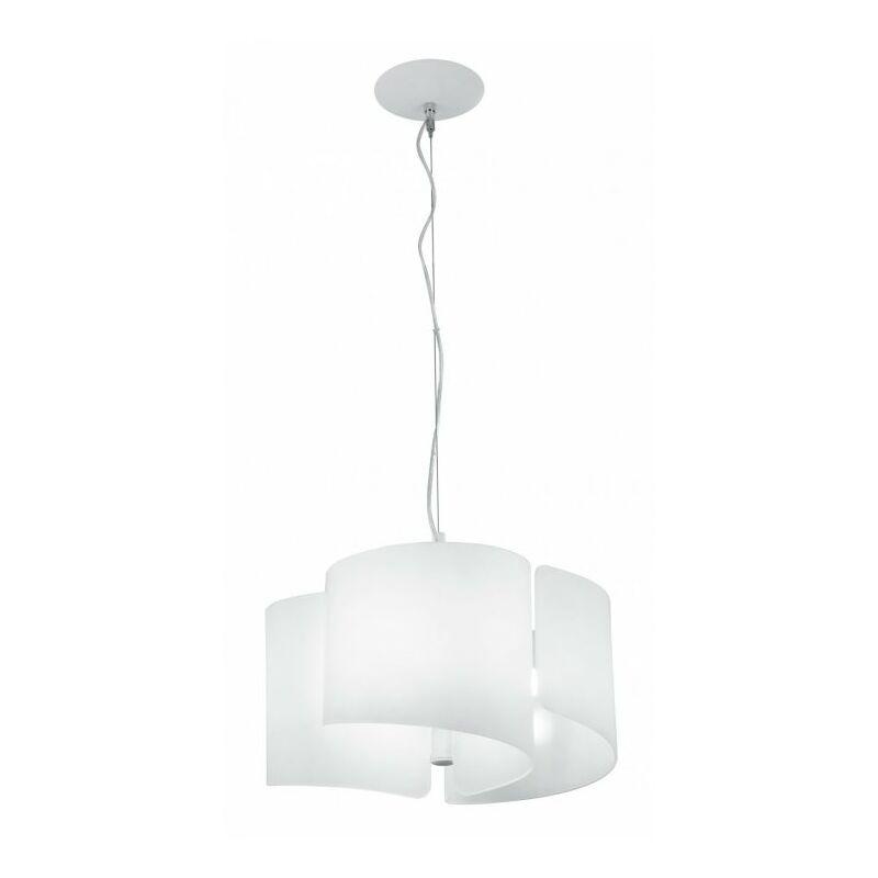 Lampadario sospeso di colore bianco originale 60 watt E27