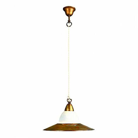 Plafoniera BA CRISPLA 35cm lampada soffitto rustica ottone esterno E27 IP43