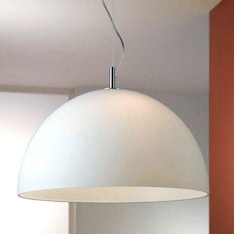 Lampadari A Cupola Moderni.Sospensione Co Cloud 708 713 E27 Led Moderno Vetro Bianco